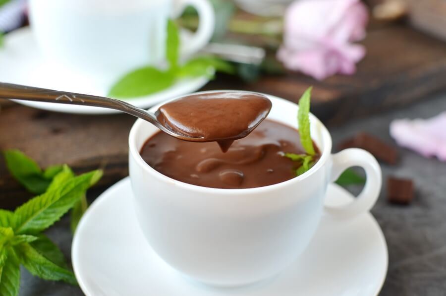 Chocolate Mint Pudding Recipe-How To Make Chocolate Mint Pudding-Delicious Chocolate Mint Pudding