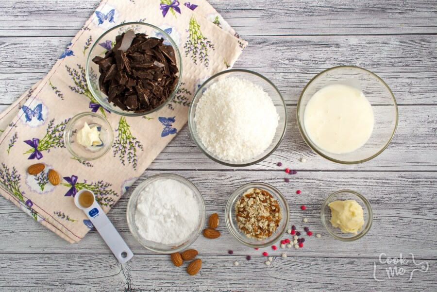 Ingridiens for Coconut Bonbons