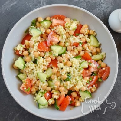 Couscous Tabbouleh with Fresh Mint Feta recipe - step 5