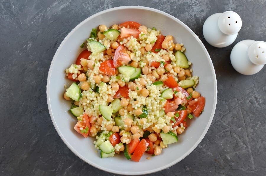 Couscous Tabbouleh with Fresh Mint Feta recipe - step 6