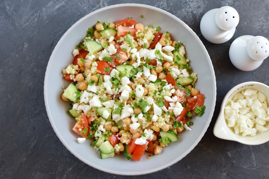 How to serve Couscous Tabbouleh with Fresh Mint Feta