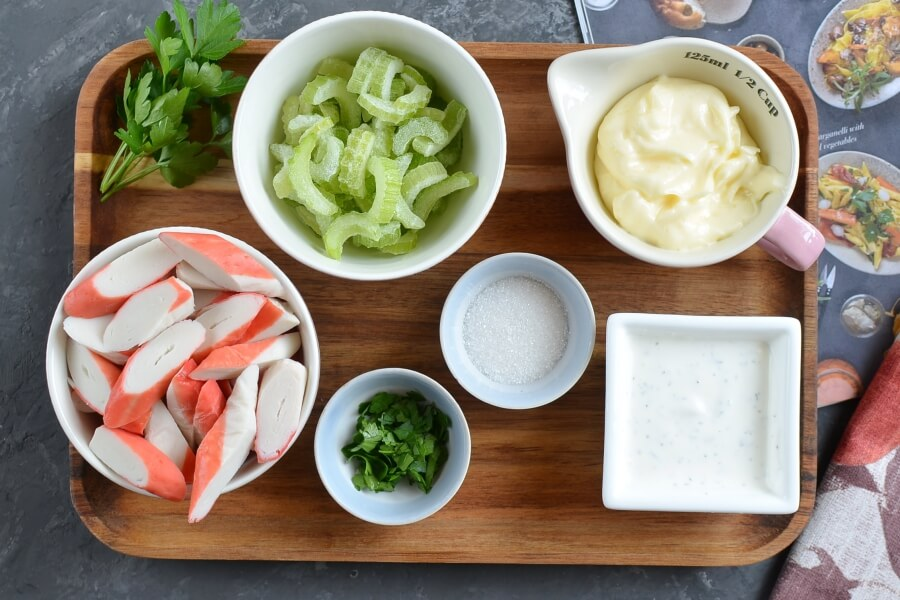 Ingridiens for Crab Salad