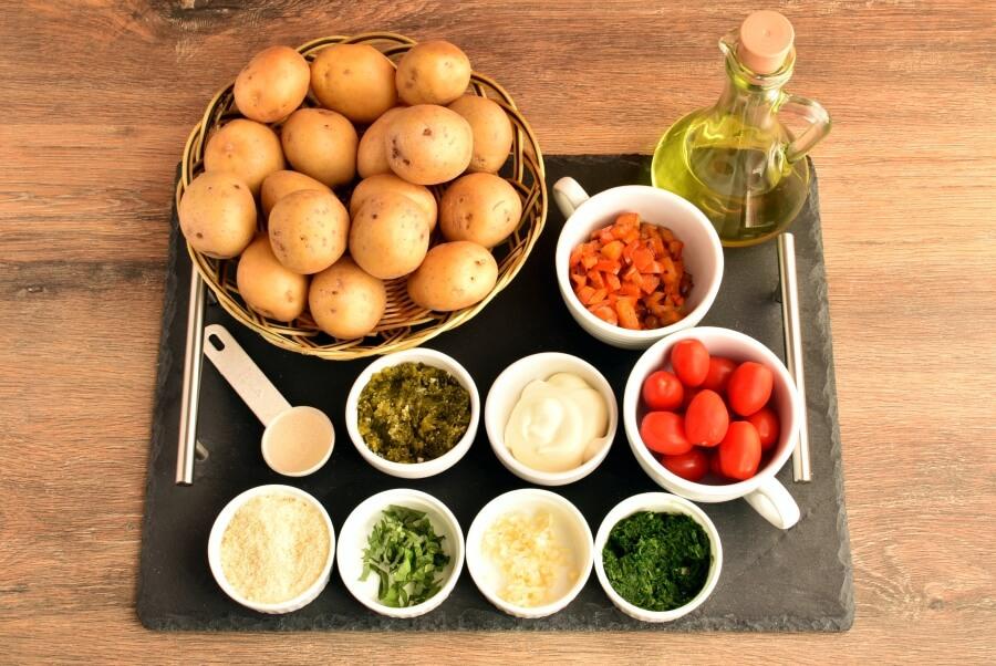Ingridiens for Healthy Creamy Italian Potato Salad