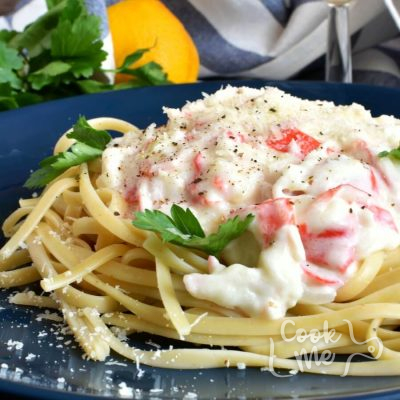 Easy Crab Linguine Recipe-Homemade Easy Crab Linguine-Easy Easy Crab Linguine