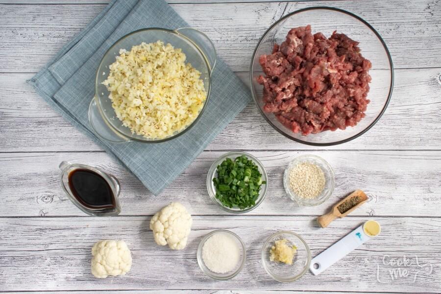 Ingridiens for Easy Keto Korean Beef with Cauli Rice
