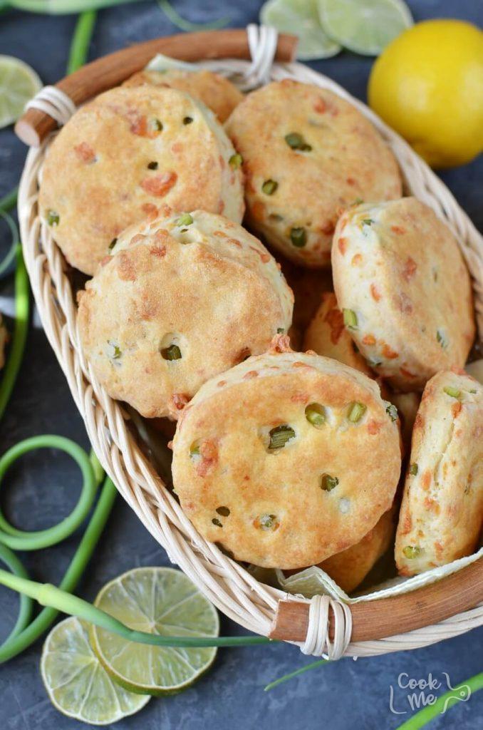 Garlic Scape and Gruyere Biscuits Recipe-How To Make Garlic Scape and Gruyere Biscuits-Delicious Garlic Scape and Gruyere Biscuits