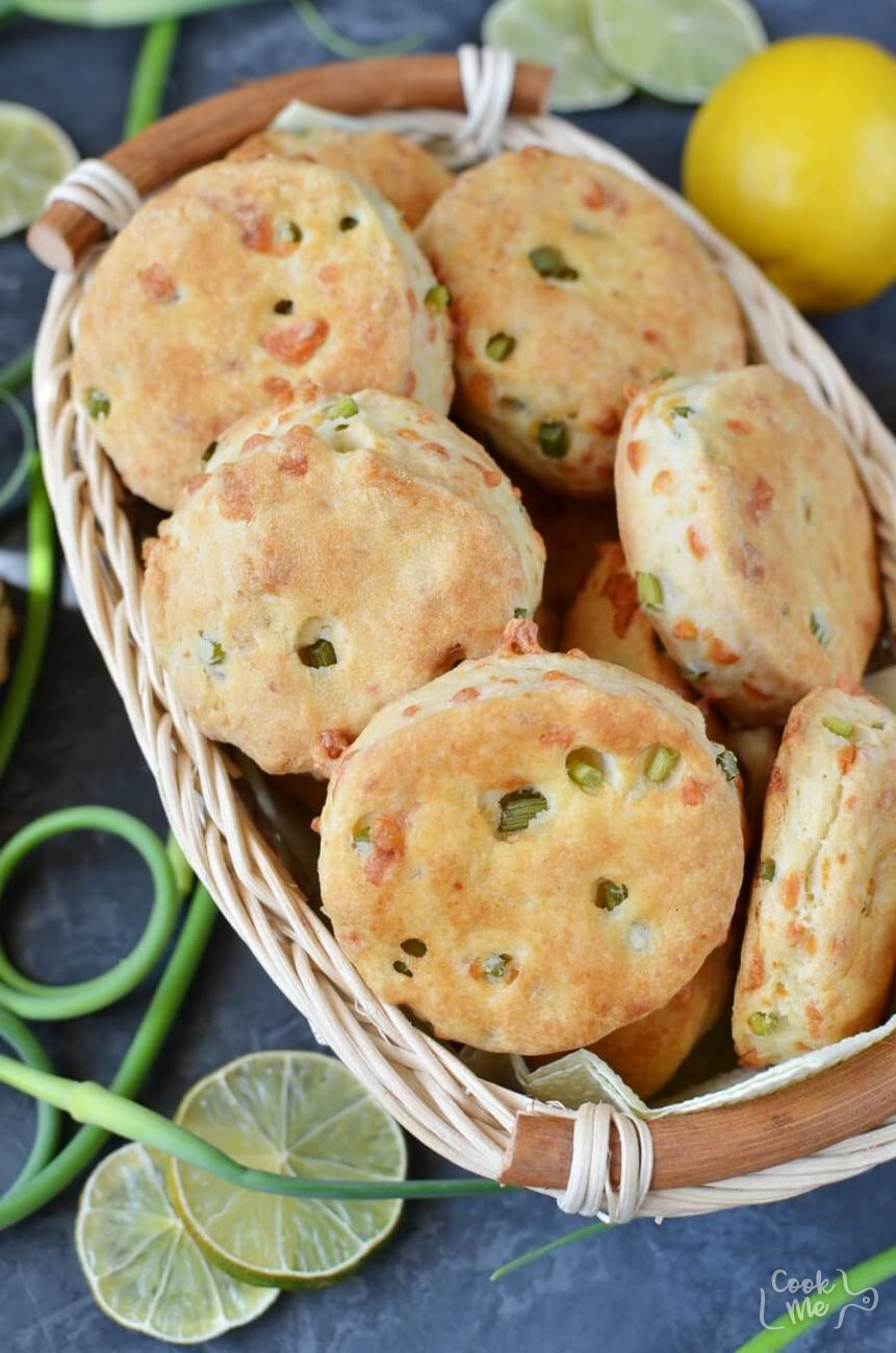 Garlic Scape and Gruyere Biscuits