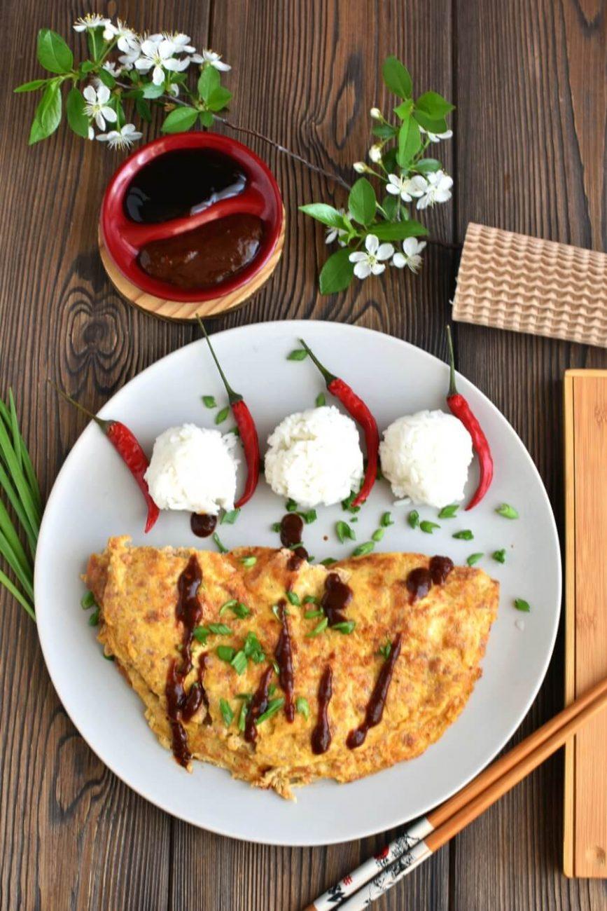 Keto Ground Pork Omelet