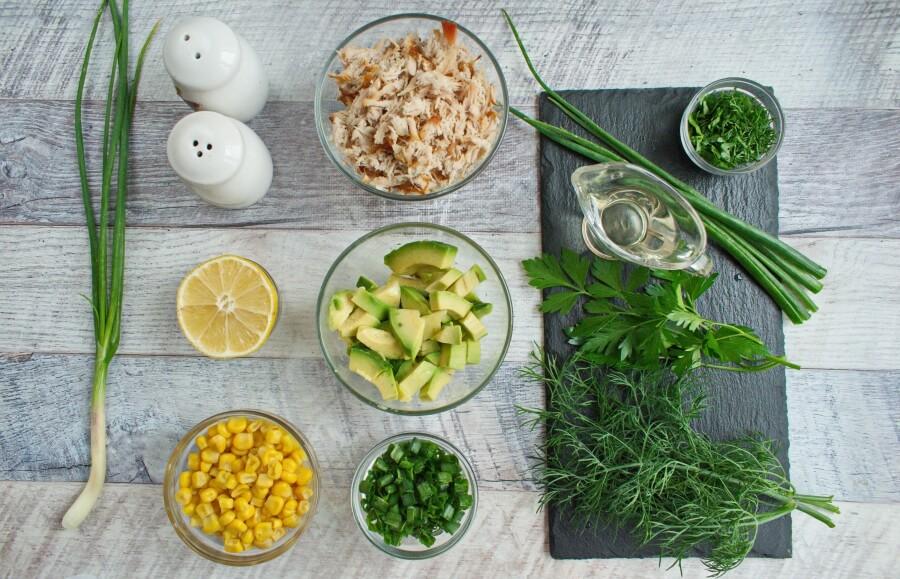 Ingridiens for Healthy Avocado Chicken Salad