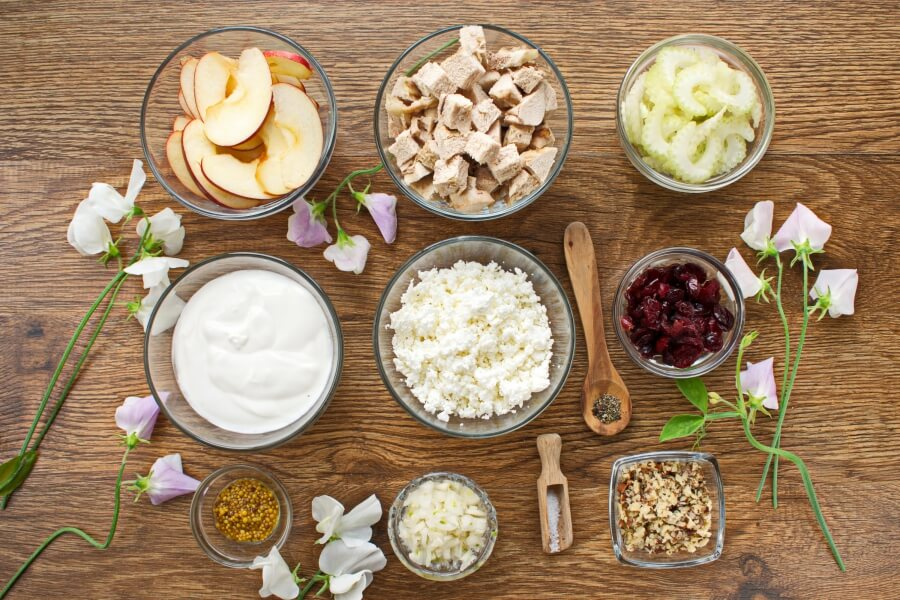 Ingridiens for Healthy Chicken Salad