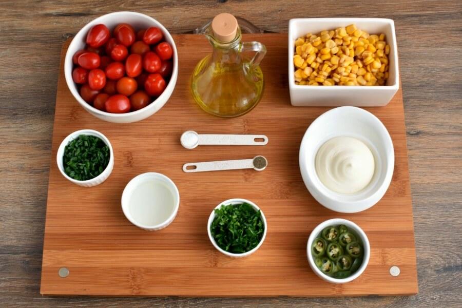 Ingridiens for Healthy Corn Salad