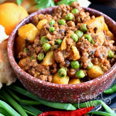 Keema Aloo (Ground Beef and Potatoes) Recipe-Homemade Keema Aloo (Ground Beef and Potatoes)-How To Make Keema Aloo (Ground Beef and Potatoes) Recipe