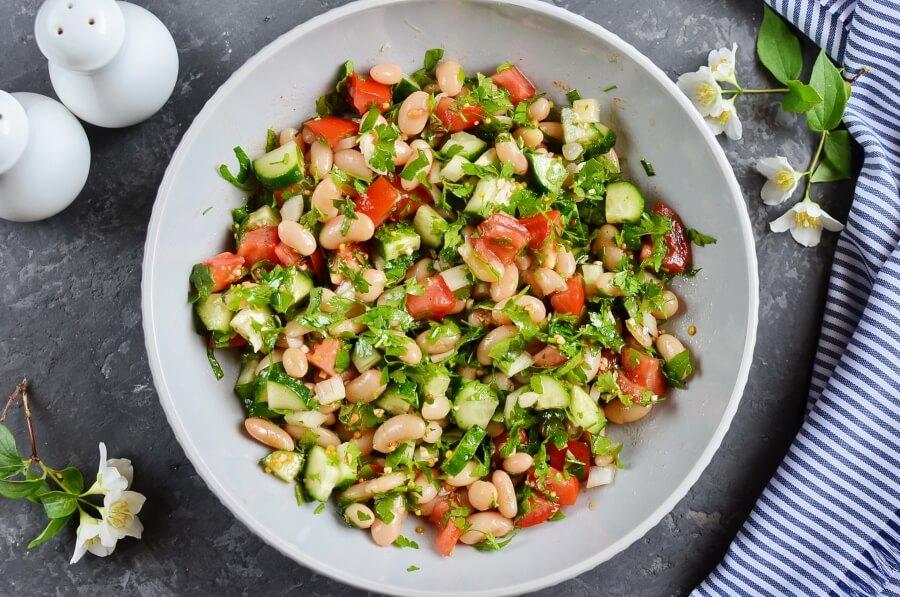 Vegan Kidney Bean Salad Cilantro and Dijon Vinaigrette recipe - step 3
