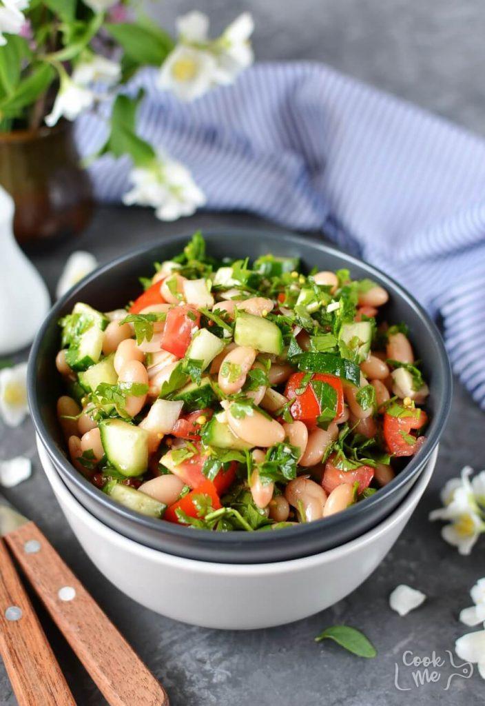 A Mediterranean Kidney Bean Salad