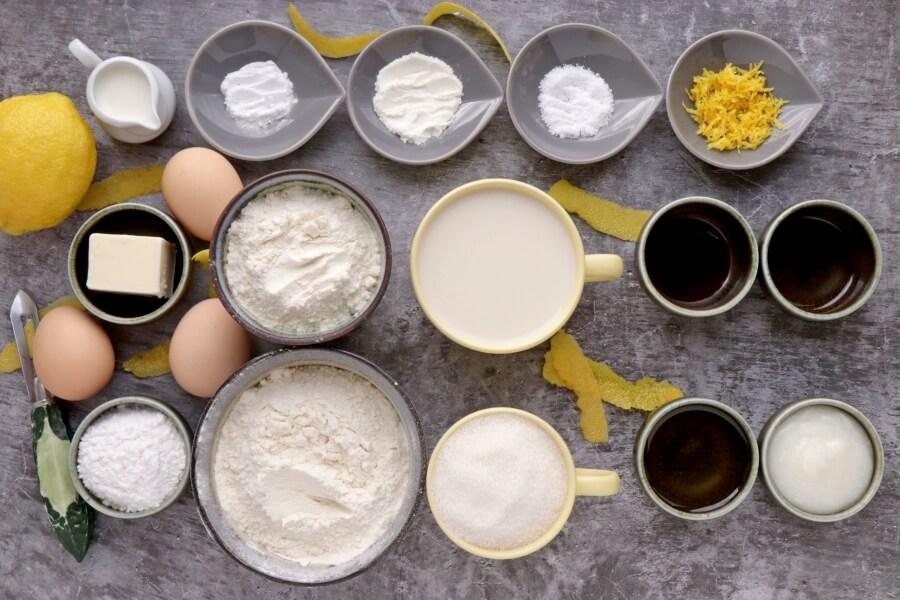 Ingridiens for Lemon Velvet Cake