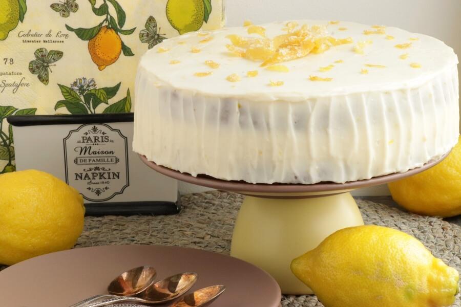 How to serve Lemon Velvet Cake