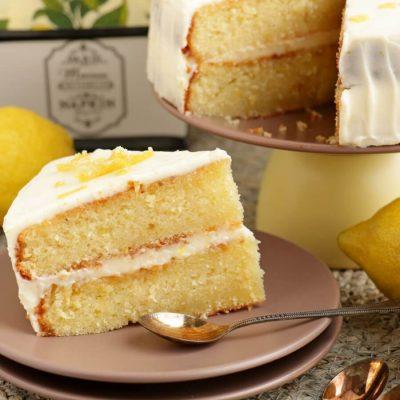 Lemon Velvet Cake Recipe-Homemade Lemon Velvet Cake-How to Make Lemon Velvet Cake