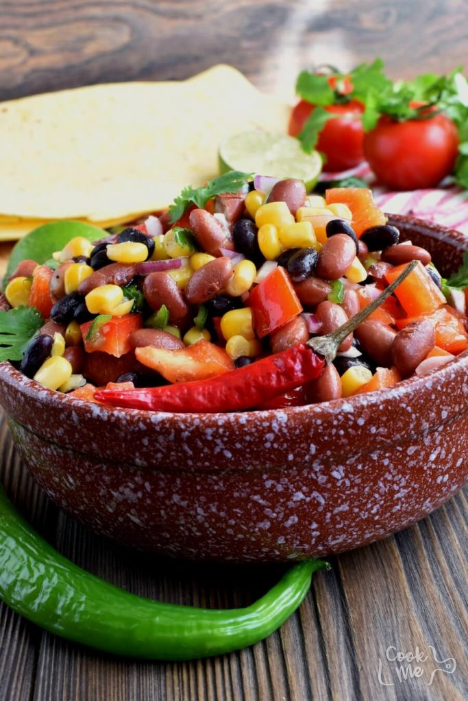 A Mexican style Bean Salad