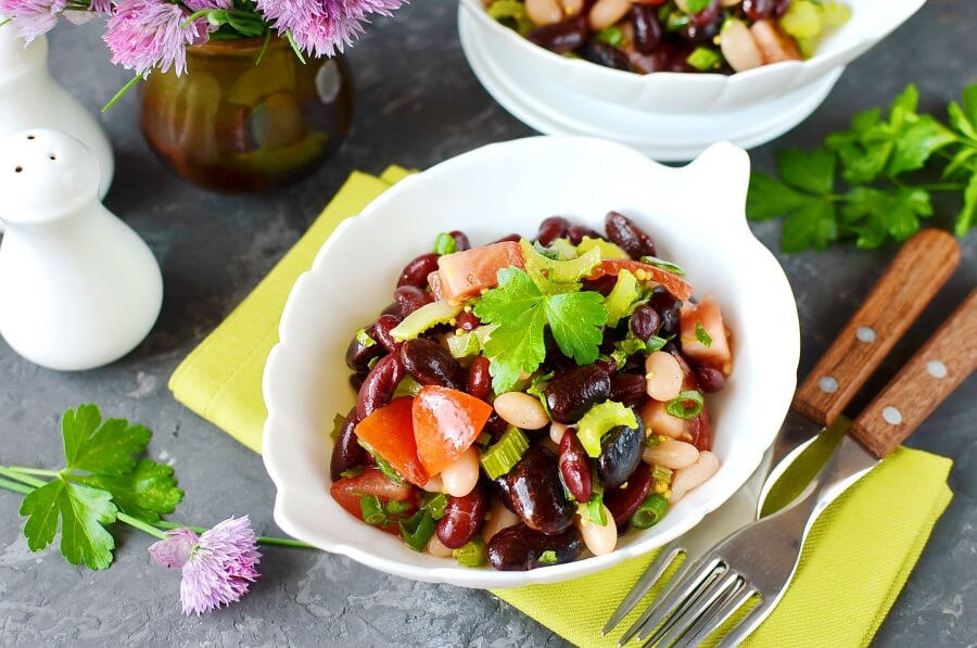 How to serve Vegan Mixed Bean Salad