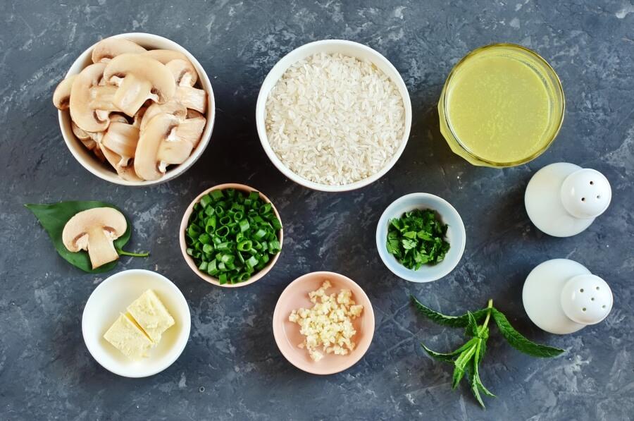 Ingridiens for Easy Mushroom Rice