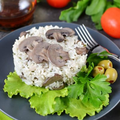 Mushroom Rice Recipe-How To Make Mushroom Rice-Delicious Mushroom Rice