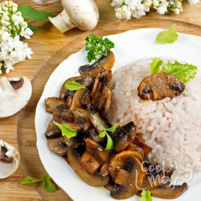 Mushrooms with a Soy Sauce Glaze-How to make Mushrooms with a Soy Sauce Glaze Recipe-Garlic Butter Soy-Glazed Mushrooms