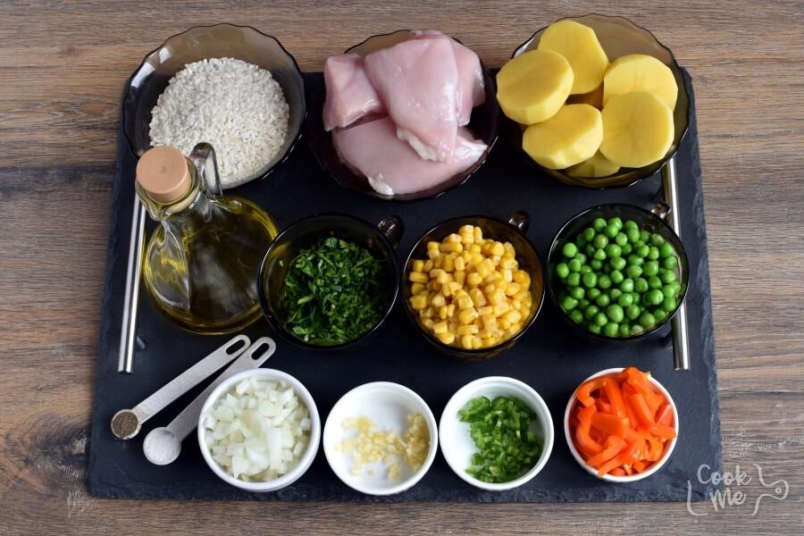 Ingridiens for Gluten Free Peruvian Chicken Soup (Aguadito de Pollo)