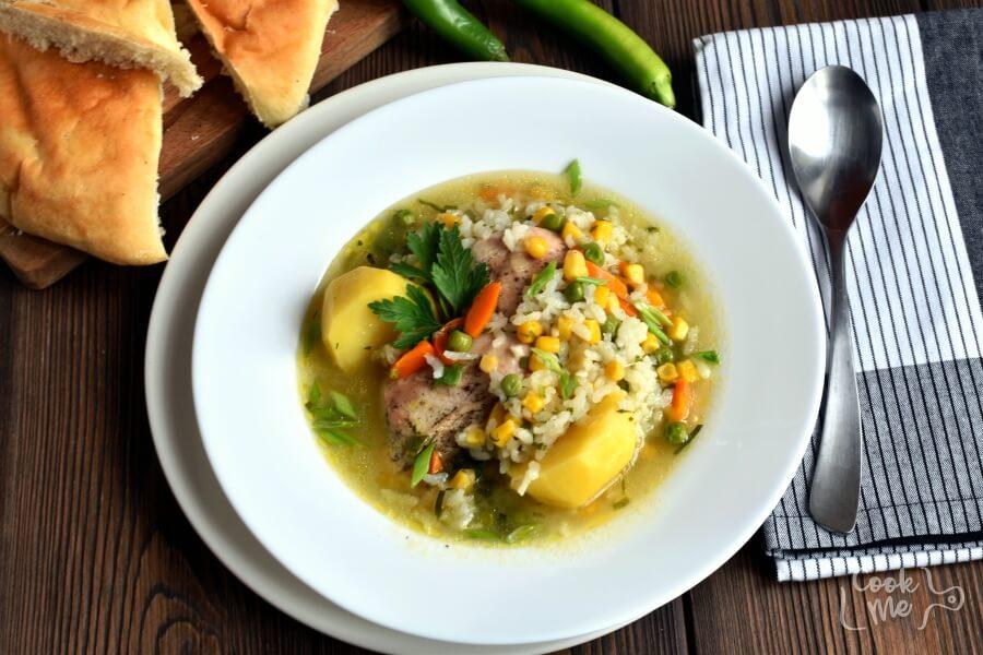 How to serve Gluten Free Peruvian Chicken Soup (Aguadito de Pollo)