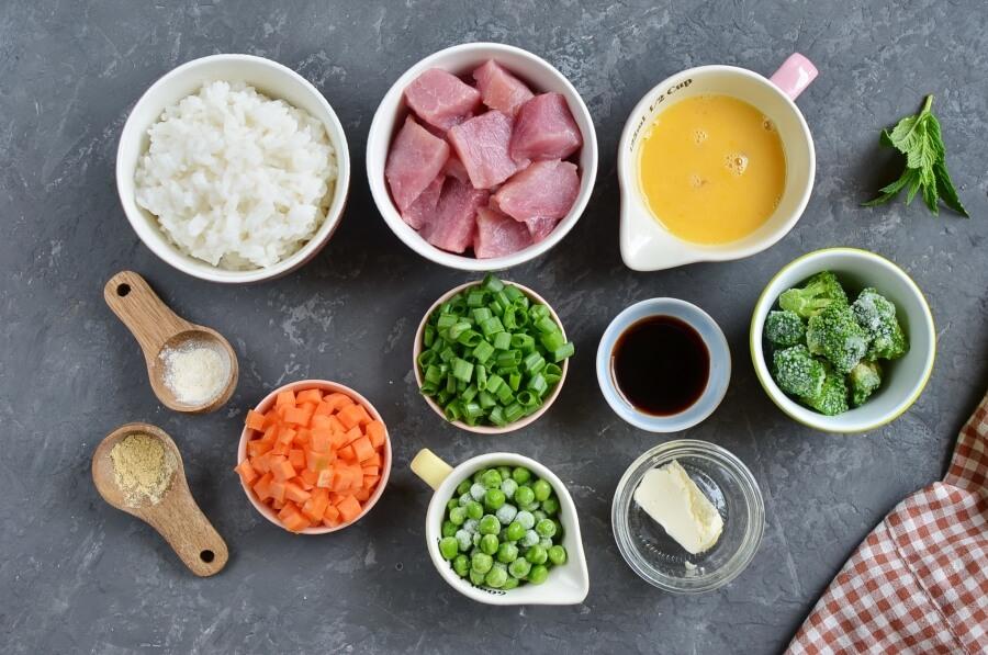 Pork Fried Rice Recipe-How To Make Pork Fried Rice-Delicious Pork Fried Rice