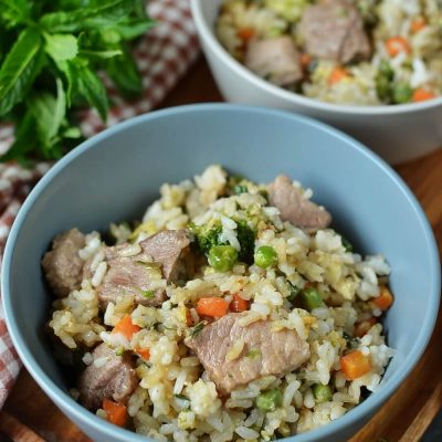 Pork Fried Rice Recipe-How To Make Pork Fried Rice-Delicious Pork Fried Rice