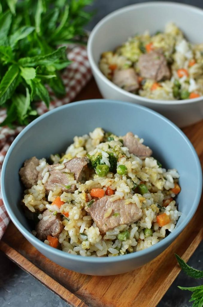 American-Chinese Pork Fried Rice