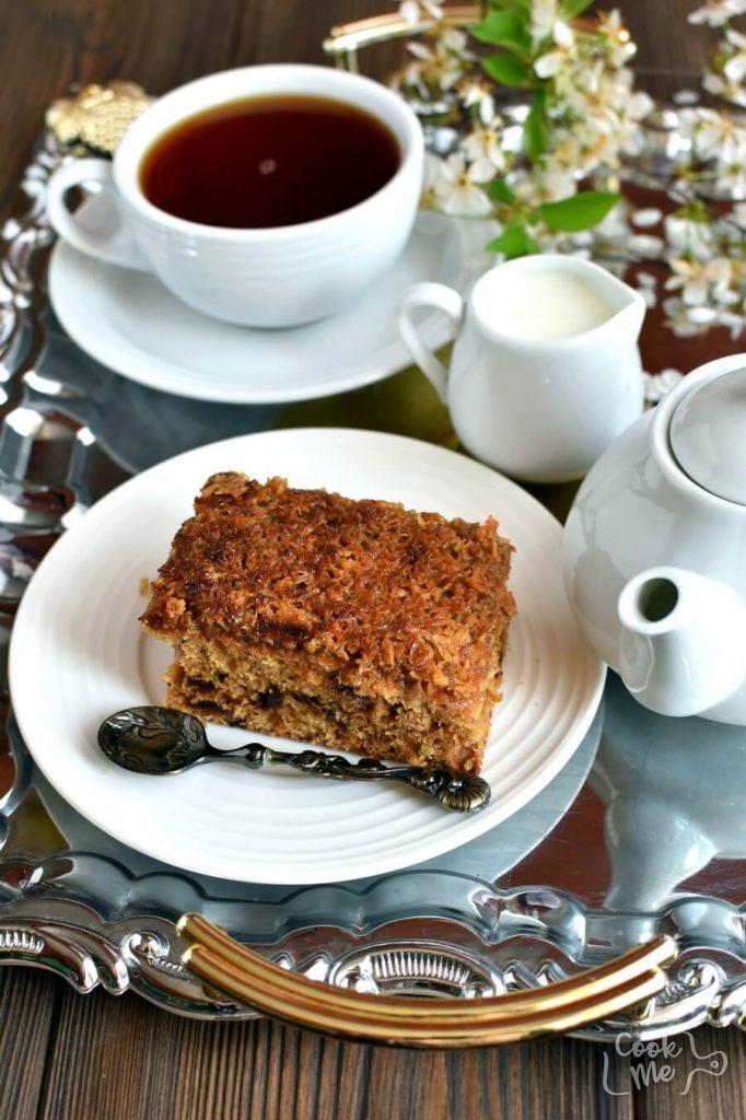 A Warm, Walnut and Date Cake