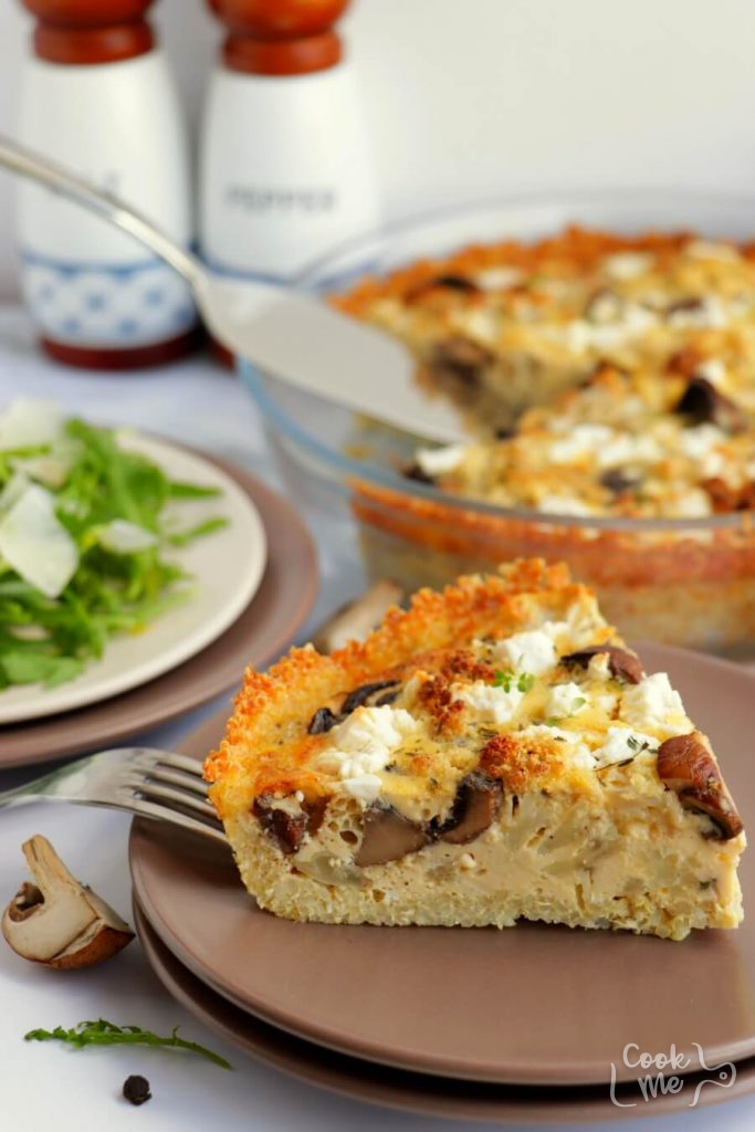 Roasted Cauliflower and Cheese Quiche with Quinoa