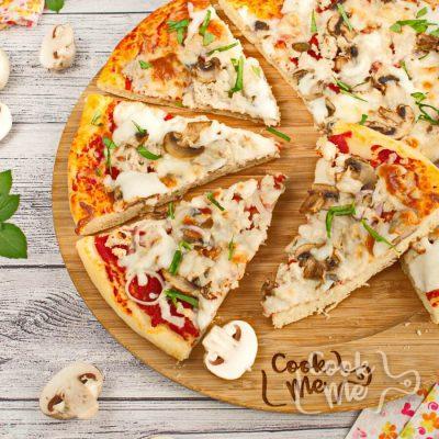 Sausage Mushroom Pizza recipe-Homemade Sausage Mushroom Pizza-How to make Sausage Mushroom Pizza