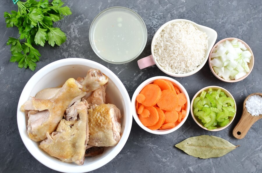 Ingridiens for Simple Chicken Soup