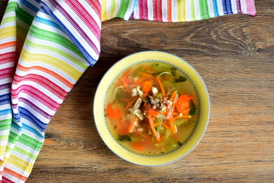 How to serve Skinny Chicken and Sweet Potato Noodle Soup