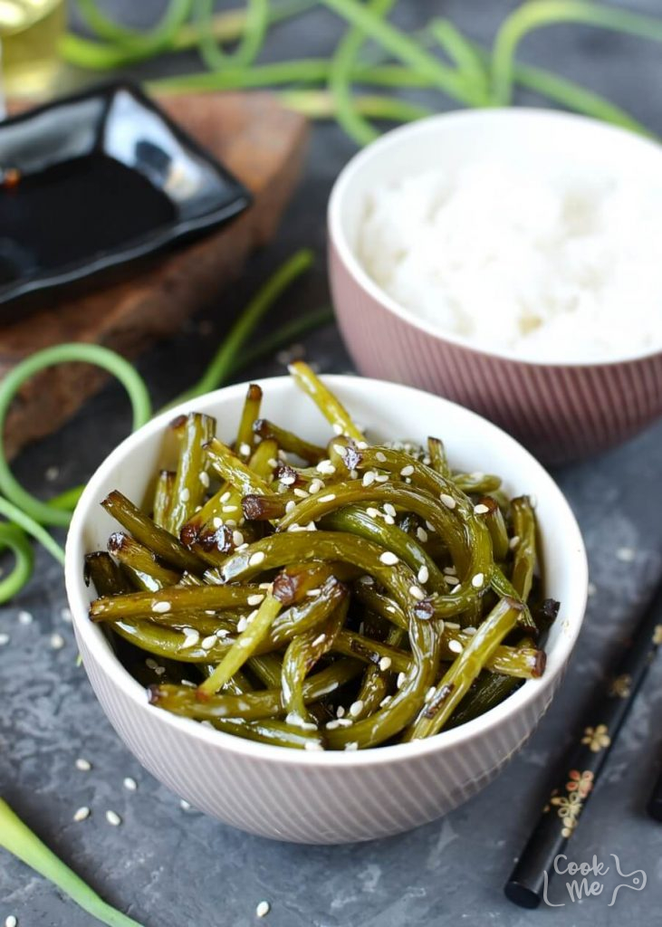 Korean garlic scape banchan
