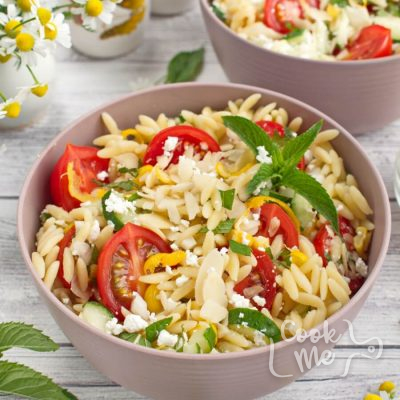 Summer Orzo with Mint recipe-Summer orzo pasta salad with Mint-Lemon Mint
