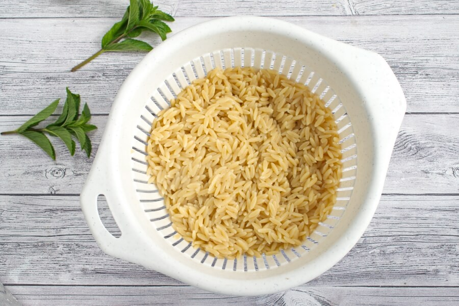 Summer Orzo with Mint recipe - step 1