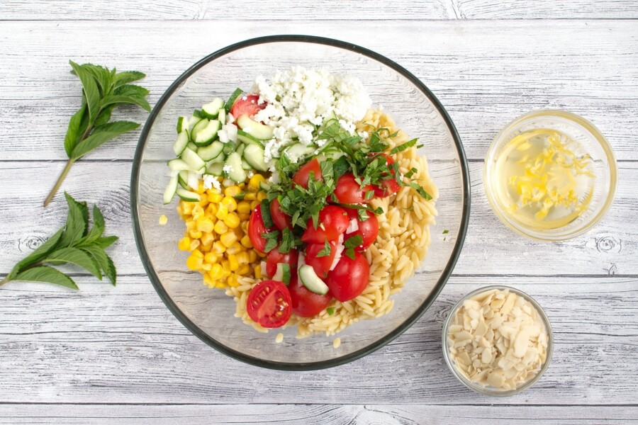Summer Orzo with Mint recipe - step 3