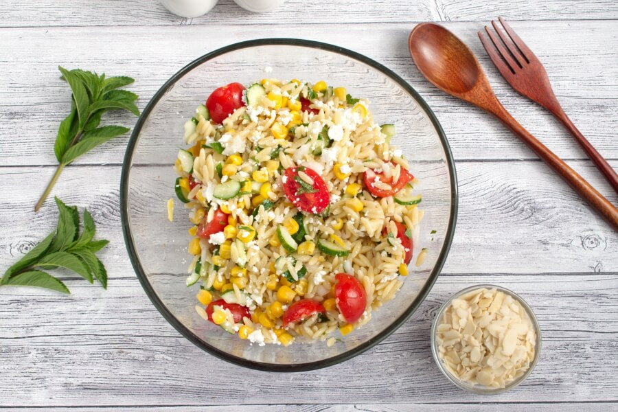 Summer Orzo with Mint recipe - step 6
