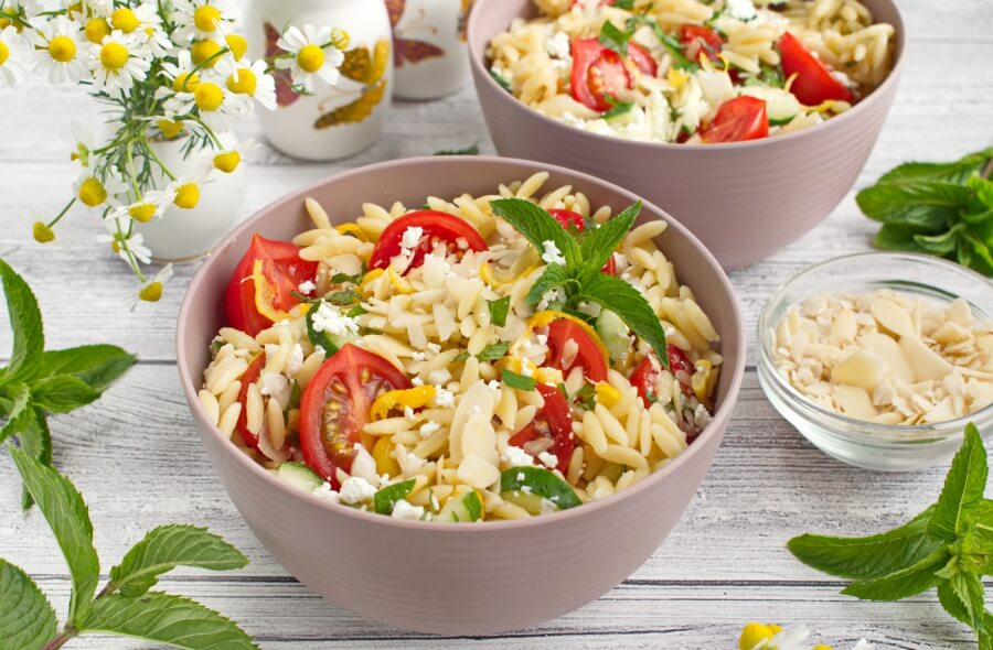 How to serve Summer Orzo with Mint