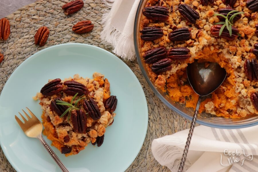 How to serve Sweet Potato Crunch Casserole