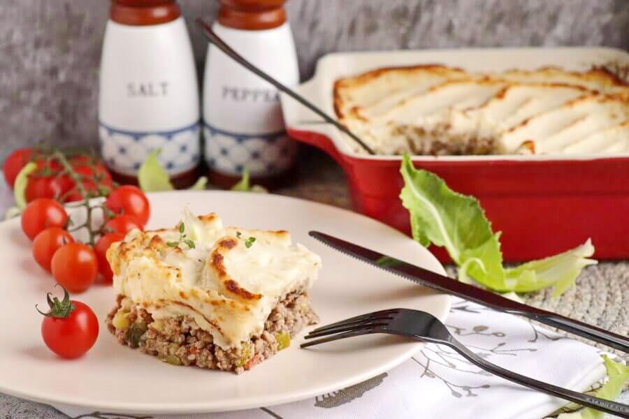 The Best Keto Shepherd's Pie Recipe-How to Make Keto Shepherd's Pie-Keto Shepherd's Pie with Cauliflower Mash and Cheese