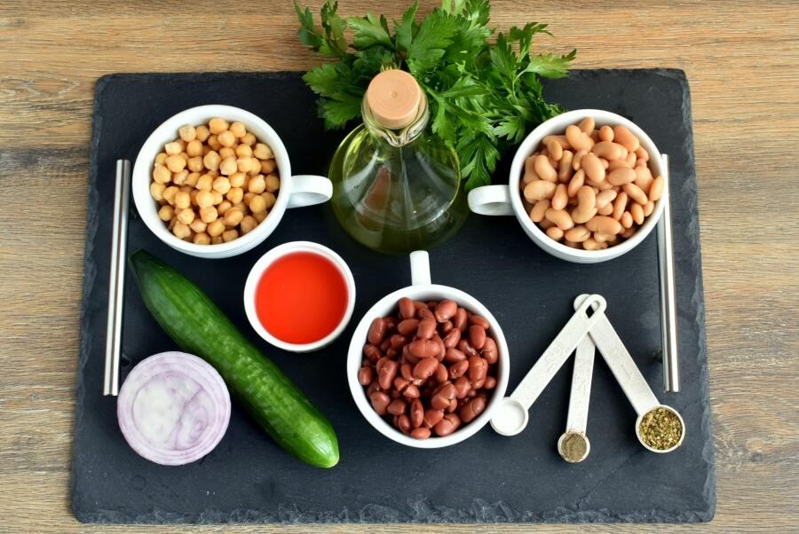 Ingridiens for Keto Three Bean Salad