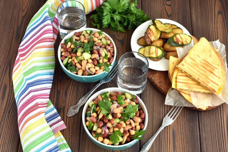 How to serve Three Bean Salad