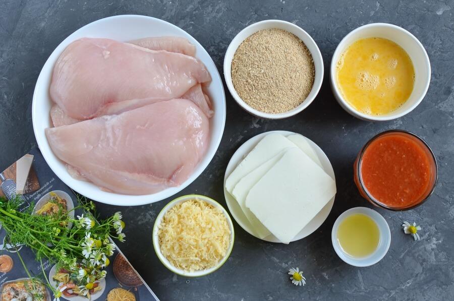 Ingridiens for Tomato Chicken Parmesan