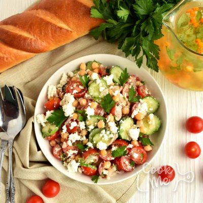 Tomato Cucumber Feta Salad Recipe-How To Make Tomato Cucumber Feta Salad-Delicious Tomato Cucumber Feta Salad