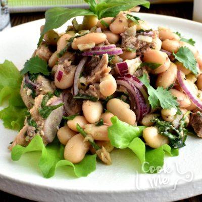 Tuna & White Bean Salad Recipe-Homemade Tuna & White Bean Salad-Easy Tuna & White Bean Salad