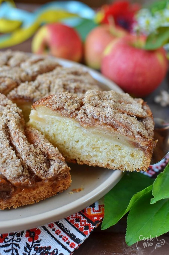 Traditional Apple Cake from the Ukraine
